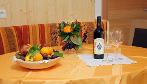 Fresh fruit and South Tyrolean wine